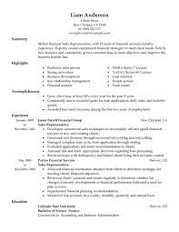 Financial Resume Example by Best Sales Representative Resume Example Livecareer