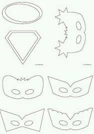 super hero mask free template things to make pinterest