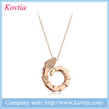 animal gold necklace images Sex animal necklace fashion 18k gold chain necklace women snake jpg