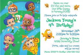 bubble guppies birthday invitations ideas u2013 bagvania free