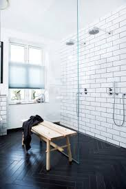 Herringbone Bathroom Floor by Harmonizing Herringbone Floors