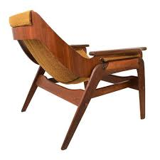 mid century modern sling chair by jerry johnson chairish