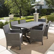 aluminum dining room chairs blane outdoor 7 piece grey dining set with aluminum dining table