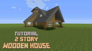 2 Story Houses Minecraft How To Build A 2 Story Wooden House Version 3