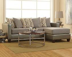 cheap living room sectionals two toned in shades of gray the quatro canary 2 piece sectional is