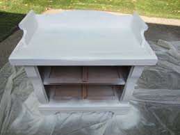 Gray Furniture Paint How To Spraypaint And Glaze Furniture Stephanie Marchetti