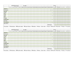 staff leave planner template staff attendance register template text 10 best images of printable employee attendance record sheets