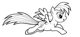 pony rainbow dash coloring pages coloring