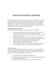 reception resume cv for receptionist medical hotel sample samples