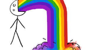 Drooling Rainbow Meme - rainbow vomit gifs search find make share gfycat gifs