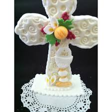 cross with chalice cake topper baptism cake toppers boys baptism