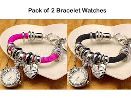 charm bracelet watches images Pack of 2 multi charm bracelet watches price in pakistan m008711 jpg
