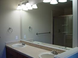bathroom frameless mirrors bathroom mirrors