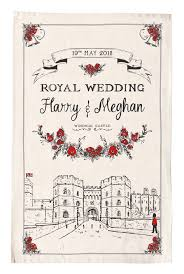 wedding tea prince harry and meghan markle royal wedding tea towel royal