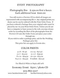 Event Fact Sheet Template Event Photography Pricing Pinteres