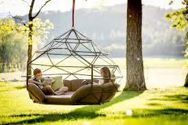 suspended bed kodama zomes hanging geodesic seats u0026 beds design milk