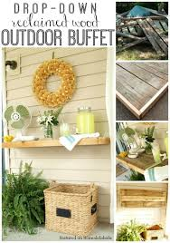 remodelaholic drop down outdoor buffet table