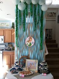 Mermaid Decorations For Party Mermaid And Pirate Party Ainslee Is 3 Chickabug