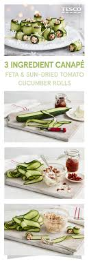 easiest canapes three ingredient canapés dried tomatoes feta and easy