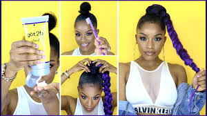 human hair ponytail with goddess braid how to jumbo braid ponytail with got2b glued youtube