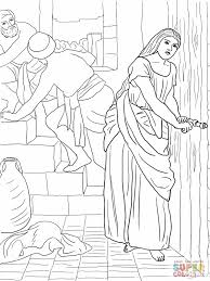 2 rahab hides the spies coloring page jpg 1200 1600 pixels