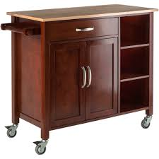 winsome mabel two tone kitchen cart walmart com