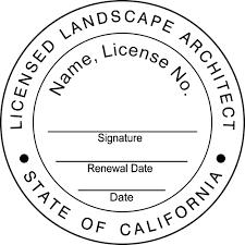 architect signature california landscape architect st seal simply sts