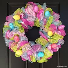 easter wreath easter egg mesh wreath how to nest for less