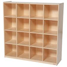 Wood Storage Shelf Design by Amazon Com Wood Designs Wd50916 16 Big Cubby Storage 49 X 48 X