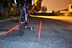 Light Bicycle The Xfire Safety Light Creates A Laser Generated Bike Lane For