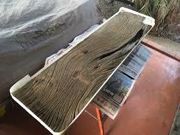 hardwood garden bench with clear resin void filler part 1 igor