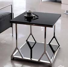 Glass Sofa Table Modern Stainless Steel Glass Sofa Small Square Table Small Tea Table