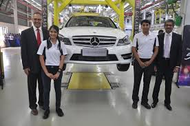 mercedes benz ceo mercedes c class gets a grand entrance in india after 50000