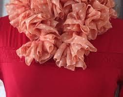pink polka dot scarf etsy