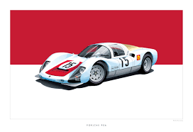 vintage porsche racing historic racing cars by scheningcreative