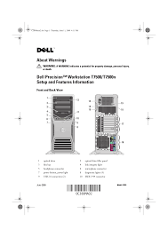 dell desktops precision t7500 early 2009 pdf service manual free