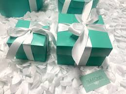 Tiffany And Co Gift Wrapping - 10 6inch blue favor box with lid and ribbon tiffany blue favors