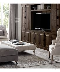 rh interior source book furniture layout with fireplace and tv