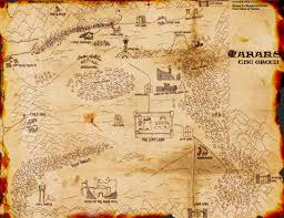 Ancient Map Ancient Map Faraks Green Ancient Castle Babikool Dorian Book