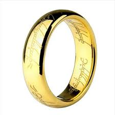 men golden rings images Lord of the rings hobbit letters male gift movie men 39 s titanium jpg