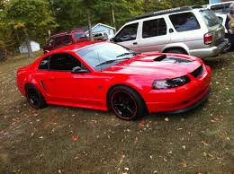 Mustang Red And Black Awesome Red Paint On Nephew U0027s 2001 Gt Is This Factory Mustang