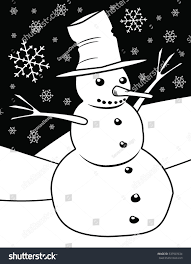 snowman coloring page stock illustration 537507634 shutterstock