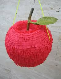 themed pinata fall back to school apple themed piñata back to school late