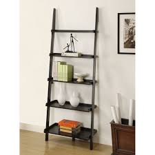 white 5 shelf bookcase furniture chic tier ladder leaning bookcase shelf for home