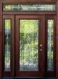 Glass Exterior Door Glass And Wood Front Doors Wood Glass Front Doors Home Depot Hfer