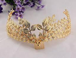 gold leaf headband gold leaf tiara loyal leaf crown floral headband bridal