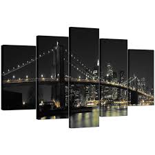 Livingroom Nyc by New York Canvas Wall Art For Your Living Room Set Of Five