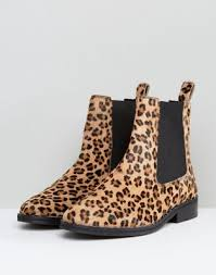 womens boots river island s boots river island faux pony hair leopard print chelsea