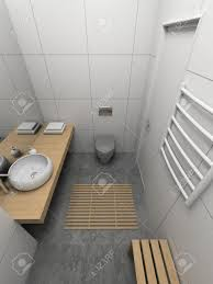 modern design interior of toilet 3d render stock photo picture