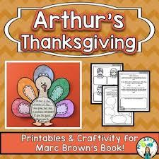 arthur s thanksgiving book arthur s thanksgiving comprehension printables craftivity tpt